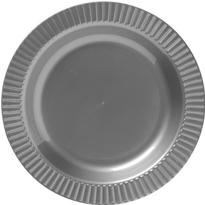 Silver Plastic Divided Dinner Plates 20ct Paper Plastic