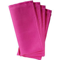 Bright Pink Fabric Napkins 4ct