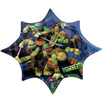 Foil Star Teenage Mutant Ninja Turtles Balloons 34in
