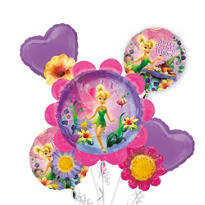 Tinker Bell Balloon Bouquet 5pc - Floral