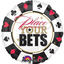 Foil Place Your Bets Casino Balloon 32in