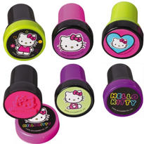 Neon Hello Kitty Stamps 6ct