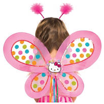 Child Polka Dot Hello Kitty Wings
