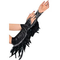 Raven Feather Gloves Deluxe