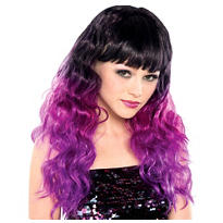 Black and Purple Ombre Wig
