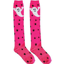 Fuchsia Ghost Knee-High Socks