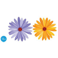 Daisy Cutouts 10 1/2in 12ct