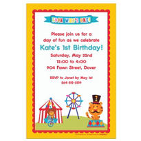 Fisher Price 1st Birthday Custom Invitation