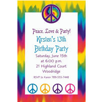 Feeling Groovy Custom Invitation