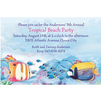 Tropical Summer Custom Invitation