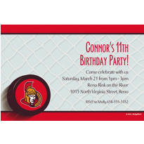 Ottawa Senators Custom Invitation