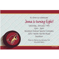 Arizona Coyotes Custom Invitation