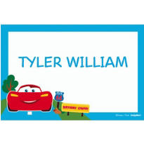 Cars 1st Birthday Custom Thank You Note