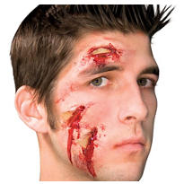 Glass Attack Bloody Face Prosthetic
