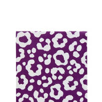 Plum Cheetah Beverage Napkins 16ct