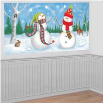 Whimsical Snowman Scene Setter