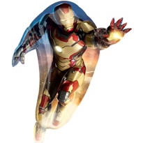 Foil Supershape Iron Man Balloon 42in