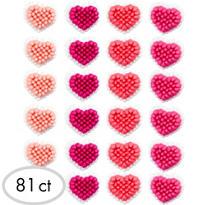 Mini Heart Icing Decorations 81ct