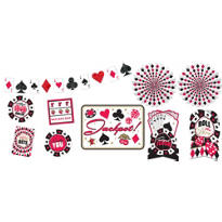 Place Your Bets Casino Room Decorating Kit 10pc