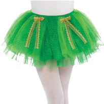 Girls Green Shimmer Day Tutu With Bows