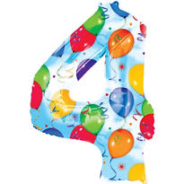 Number 4 Balloon - Celebration