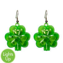 Light-Up Shamrock Earrings
