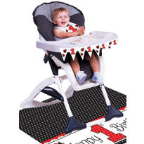 Fancy Ladybug 1st Birthday High Chair Decorating Kit 3pc