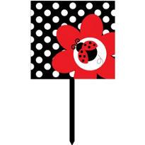 Fancy Ladybug Party Yard Sign