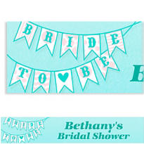 Bride to Be Flags Custom Bridal Shower Banner