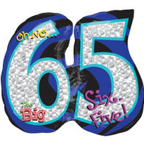 65th Birthday Balloon - Giant Oh No!