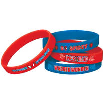 Spider-Man Wristbands 4ct