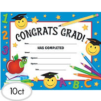 Smiley Grad Diplomas 10ct