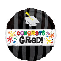 Foil Wavy Graduation Balloon
