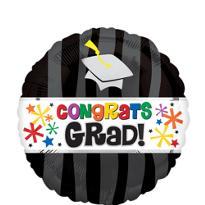 Foil Wavy Graduation Balloon