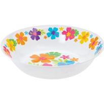 White Hibiscus Plastic Bowl