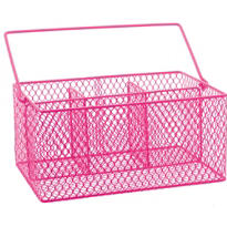 Bright Pink Wire Utensil Caddy