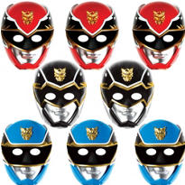 Paper Power Rangers Masks 8ct
