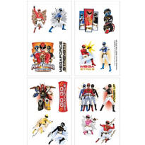 Power Rangers Tattoos 1 Sheet