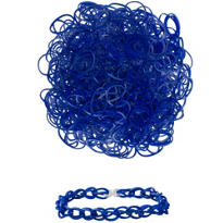 Navy Rubber Loom Bands 300ct