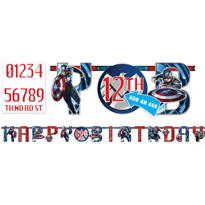 Captain America Birthday Banner 10ft