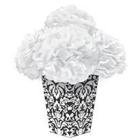 Black Fluffy Flower Centerpiece Kit 6pc