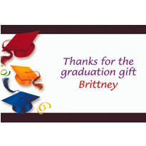 Custom School's Out Graduation Thank You Notes