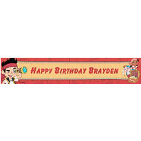 Jake and the Neverland Pirates Custom Banner