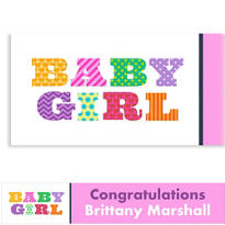 Big Baby Girl Custom Banner