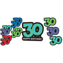 The Party Continues 30th Birthday Cutouts 12ct