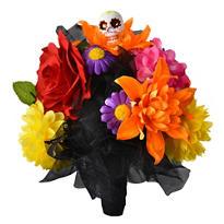 Day of the Dead Skull Flower Bouquet