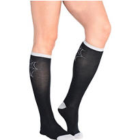 Spider Web Knee-High Socks