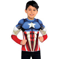 Child Captain America Muscle Shirt
