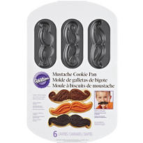 Moustache Cookie Pan