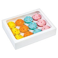 White Mini Cupcake Boxes 3ct